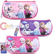 Disney Frozen Pencil Case Elsa Anna Half Moon Cosmetic Zipper Pouch Bag -3 Color