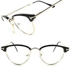 Old Fashioned Vintage Retro Style Elegant Womens Cat Eye Clear Lens Glasses B9