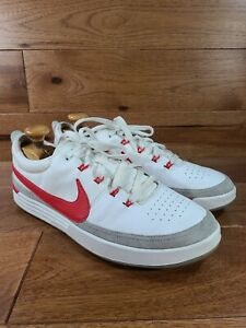 NIKE Men's White Leather Lunar Waverly Spikeless Golf Shoes 652780-100 Size 13