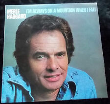 MERLE HAGGARD I'm Always On A Mountain When I Fall LP