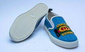 Gucci Denim Mens Kura Slip On G 6.5 Sneakers Size: US 7