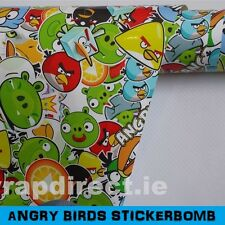 Sticker Bomb Gloss Car Wrap 152 x 30cm - Bubble Free Vinyl - Angry Birds
