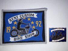 NEW Hells Angels Kent Custom Show 1992 Patch & Pin Badge - Bike Memorabilia