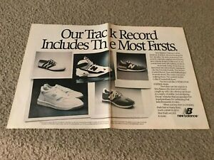 Vintage 1988 NEW BALANCE TRACKSTER 320 668 800 990 Running Shoes Poster Print Ad
