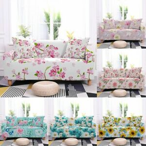 Flower Print Stretch Sofa Cover Universal Slipcovers for Living Room Couch Cover