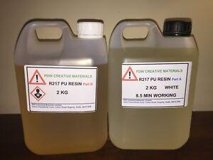 Polyurethane Liquid Plastic Resin Kit PDW R217 4KG Kit (white)