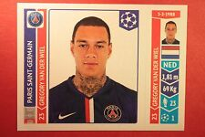 PANINI CHAMPIONS LEAGUE 2014/15 N. 436 VAN DER WIEL PSG BLACK BACK MINT!