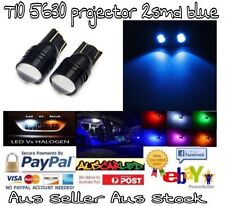 2 x T10 W5W 5W 6000K Xenon Bright Blue LED Projector Cover 2smd 5630 12V