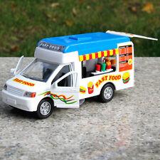 Toys Fast Food Truck hamburger van Vending cart diecast model Blue Die Cast 1:38
