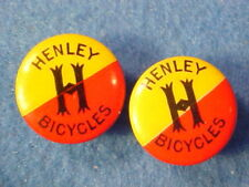 RARE 1890s HENLEY BICYCLES CO.RICHMOND INDIANA ADVERTISING CELLULOID CUFF LINKS