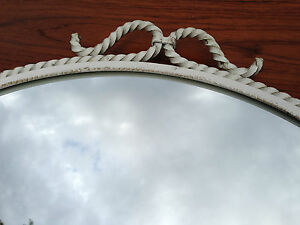French 50s Paris Maison WALL MIRROR Mid Century Charles Royere Era Adnet Bagues