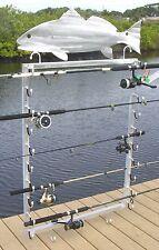 Fishing Rod Wall Mount Rack- Holds 10 Combos Horizontal