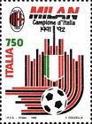 # ITALIA ITALY - 1992 - Milan Winner - Calcio Football Soccer Sport Stamp MNH