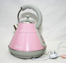 1.8L Cordless Electric Kettle Fast Boil Jug Washable Filter 2200w Pink AB