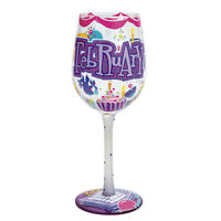 LOLITA Love My Wine Happy February 15oz Glass*BNIB*Love My Birthday Month***