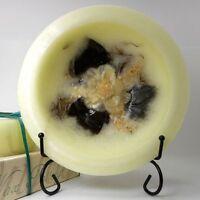 NEW Habersham Wax Pottery Bowl Flameless Candle Magnolia Wax Pottery Vessel