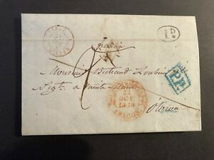 Postal History Spain Early Letter 1846 Aragon to Oliva  Letter written in French