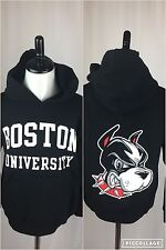 Boston University Terriers Black Youth Small (6-7) HoodIe Sweatshirt NEW W/Tags