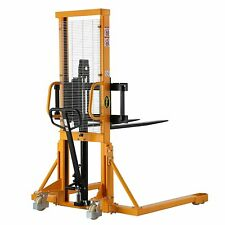 Apollo Manual Pallet Stacker 2200lbs Capacity 63 Lift Height Adjustable Forks