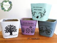 Sale!!!Fresh Design printed Concrete Succulent Pots/ indoor and outdoor planter