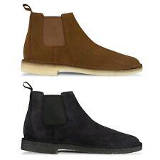 Clarks Originals Boot - Clarks Originals Desert Chelsea Boot - Black, Cola Suede