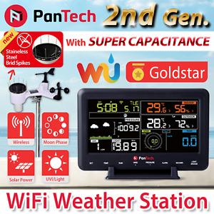 PanTech Weather Station Wifi Wireless Professional Solar Power UV WH2900 PLS