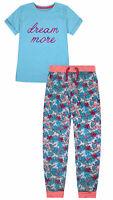 Girls Pyjama Set T-shirt and Bottoms Kids 2 Psc PJs Age 8 9 10 11 12 13 14 Years