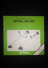 OEM STIHL FS62 Trimmer Brush Cutter Instruction Manual/Owner's Manual NOS