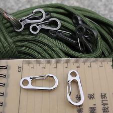 Alloy D-Ring Carabiner Clip Snap Hook Small Keyring Keychain Camping Karabiner