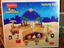 Fisher Price Little People Nativity Set, Plays Music,17 Pieces, Great Lot!