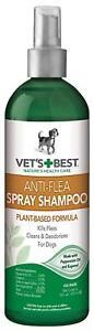 Vet's Best Anti-Flea Spray Shampoo With Peppermint Oil 16oz