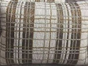 "NWT Kim Seybert Living 12""x16"" White Gold Silver Beaded Christmas Throw Pillow"