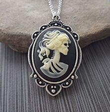 Handmade Lolita Skeleton Cameo Necklace