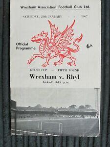 66/7 Wrexham vs Rhyl (Welsh Cup 5th Round)