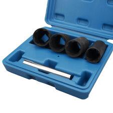 5PCS Twist Deep Socket Set 4 Damaged Worn Lug Nut Lock Remover 17,19,21,22mm