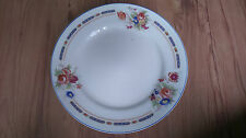 Vintage 1912+ J&G Meakin Sol China 25cm Rimmed Dinner Plate Pink Rose Blue VGC