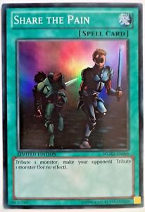 YUGIOH SHARE THE PAIN WGRT-EN066 LIMITED EDITION SUPER RARE