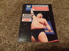 wwf MAGAZINE program VOLUME 171 wrestling W/CATALOG