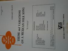 THEME&VARIATIONS ON A MEXICAN FOLK SONG ORCHESTRA EDITION WO-1 SET B SHEET MUSI