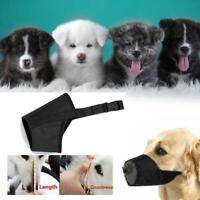 Adjustable Nylon Dog Safety Muzzle Muzzel Biting Barking Chewing All Sizes x 1.