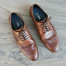 Stacy Adams Tan Brown Leather Lace Up Oxford Mens Dress Shoes Size 11 W