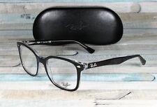 RayBan RX5285-2034 TOP BLACK ON TRANSPARENT demo lens 53 mm Unisex Eyeglasses