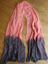 Echarpe NAF NAF rose saumon et gris / foulard / viscose
