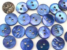 MOP Mother of Pearl Shell Button Lot 10 11.3mm 18L NAVY TRIM SHIRT Sewing Notion