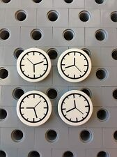 Lego Clock Round 2x2  Deco Flat Tiles Smooth Finish Not A Sticker Minifigure 4