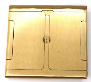 Carlon Solid Brass Two Gang Floor Outlet Cover Lamson & Sessions B234FBCB