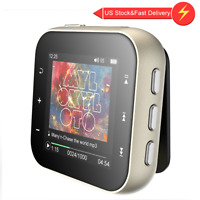 AGPTEK Clip MP3 Player FM Radio Portable HIFI Music Player Supports up to 128GB
