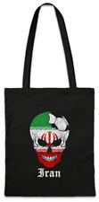 Iran Football Skull I Shopper Shopping Bag Iranian Soccer Flag World