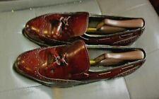 Dexter Mens Size 9 M Burgundy Low Top  Leather Wingtips loafer Oxfords Shoes