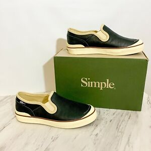 NWB SIMPLE Edward Leather Slip On Sneakers Shoes 7 ASO Bella Swan